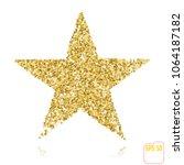golden christmas star isolated... | Shutterstock .eps vector #1064187182