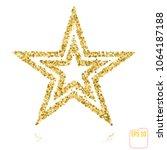 golden christmas star isolated... | Shutterstock .eps vector #1064187188