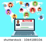 business situation. remote... | Shutterstock .eps vector #1064188106