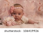 Portrait Of 4 Months Old Baby...