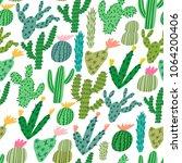 vector cactus cute hand drawn...   Shutterstock .eps vector #1064200406