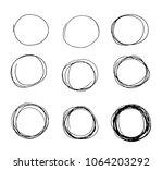 hand drawn circle sketch set...   Shutterstock .eps vector #1064203292