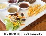 vegetable salad for steak | Shutterstock . vector #1064212256