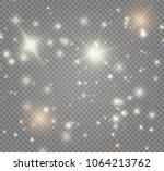 white sparks and golden stars...
