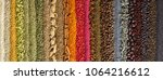 background of colorful spices... | Shutterstock . vector #1064216612