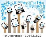 hands of the people hold the... | Shutterstock .eps vector #106421822