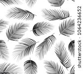 seamless pattern with palm... | Shutterstock .eps vector #1064236652