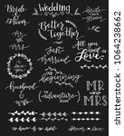 a collection of wedding... | Shutterstock .eps vector #1064238662