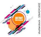 new modern bright geometric... | Shutterstock .eps vector #1064241632