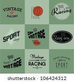 vintage car racing badges | Shutterstock .eps vector #106424312