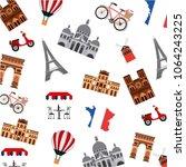 famous monuments france | Shutterstock .eps vector #1064243225