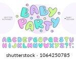vector baby alphabet  set of... | Shutterstock .eps vector #1064250785