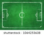 realistic illustration football ... | Shutterstock . vector #1064253638