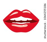female lips sensuality icon | Shutterstock .eps vector #1064255186