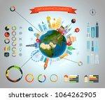 infographic elements template.... | Shutterstock .eps vector #1064262905