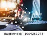 close up business woman using... | Shutterstock . vector #1064263295