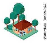 building and car scene isometric | Shutterstock .eps vector #1064268962