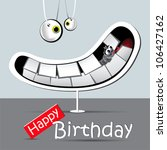 happy birthday funny card smile | Shutterstock .eps vector #106427162