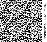 black on white leopard print... | Shutterstock . vector #1064274302