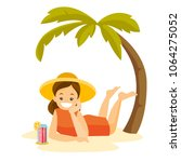 young happy caucasian white... | Shutterstock .eps vector #1064275052