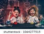 funny school children doing... | Shutterstock . vector #1064277515