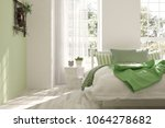 white bedroom with summer... | Shutterstock . vector #1064278682
