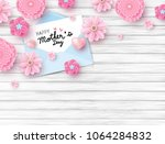 happy mothers day on white... | Shutterstock .eps vector #1064284832