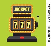 lucky sevens jackpot in golden... | Shutterstock .eps vector #1064285252