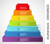 rainbow pyramid with numbers.... | Shutterstock .eps vector #106428632