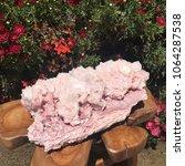 pink halite mineral specimen...   Shutterstock . vector #1064287538