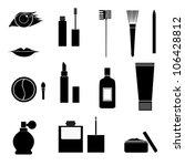 set of vector makeup icons | Shutterstock .eps vector #106428812