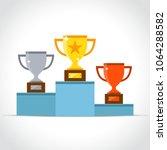 illustration of winners podium... | Shutterstock .eps vector #1064288582