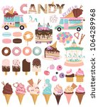 set of ice cream and cakes for... | Shutterstock .eps vector #1064289968