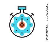 clock icon stopwatch deadline... | Shutterstock .eps vector #1064290652