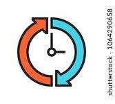 clock icon work day | Shutterstock .eps vector #1064290658