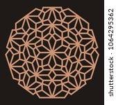 mandala. circular ornament.... | Shutterstock .eps vector #1064295362