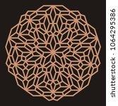 mandala. circular ornament.... | Shutterstock .eps vector #1064295386