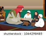 a vector illustration of imam... | Shutterstock .eps vector #1064298485