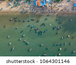 top view. aerial view fishing...   Shutterstock . vector #1064301146