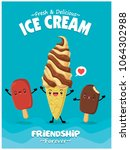vintage food poster design with ... | Shutterstock .eps vector #1064302988