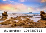 beach sunset at neil island... | Shutterstock . vector #1064307518