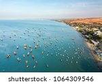 top view. aerial view fishing...   Shutterstock . vector #1064309546