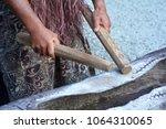 cook islander man plays on a...   Shutterstock . vector #1064310065