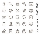 programming icon set.... | Shutterstock .eps vector #1064313746