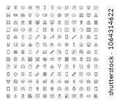 e learning icon set. collection ... | Shutterstock .eps vector #1064314622