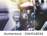 police car interior with cb...   Shutterstock . vector #1064318036