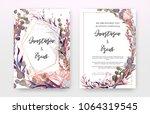 wedding invitation frame set ... | Shutterstock .eps vector #1064319545