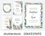 wedding invitation frame set ... | Shutterstock .eps vector #1064319692