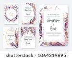 wedding invitation frame set ... | Shutterstock .eps vector #1064319695