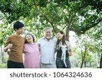 happy  family walking outdoor...   Shutterstock . vector #1064324636